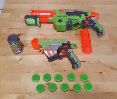 Nerf Gun Vortex Bundle Praxis and Proton with 10 Discs and Practice Can
