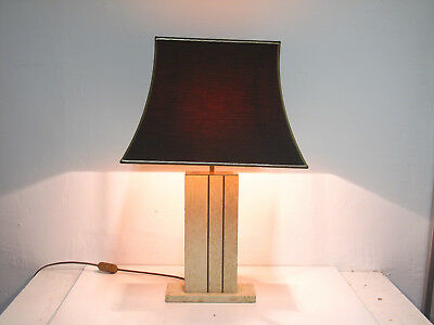 Lampe de table vintage table lamp - travertin laiton brass Rizzo Daro design