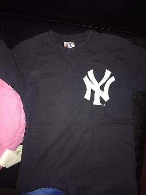 NEW YORK YANKEES Baseball Majestic Derek Jeter Jersey Shirt Small Navy Blue ef5b9eda800