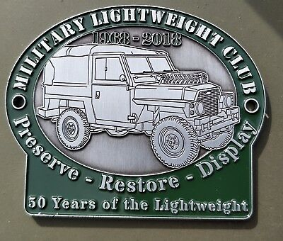 Limited Edition Land Rover Military Lightweight 50 years Since Production Plaque