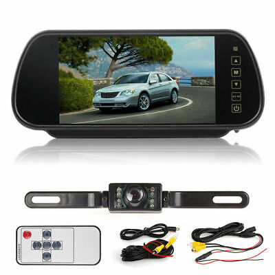 "WIRELESS CAR REAR VIEW 7"" LCD MIRROR MONITOR + IR REVERSING CAMERA Dash Cam"