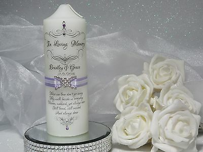 ~ Personalised Unity Candle ~Keepsake ~ WEDDING MEMORIAL IN LOVING MEMORY ~S39