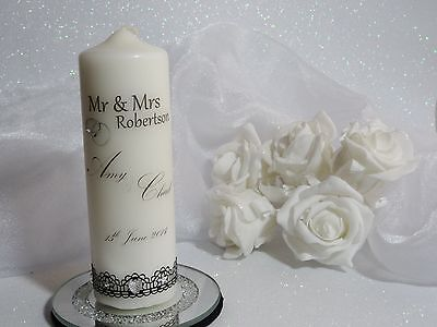 ~ Personalised Unity Candle ~ Keepsake Gift ~ WEDDING ANNIVERSARY ENGAGEMENT ~S4
