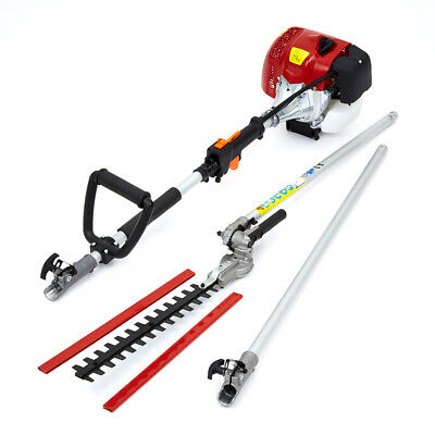 62cc Petrol Long Reach Pole Garden Hedge Trimmer Cutter 2.6KW 3.5HP