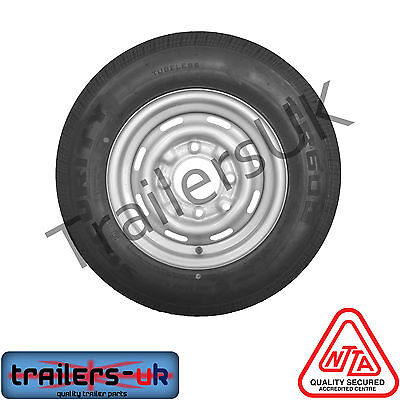 Trailer Wheel 165/R13C (PCD 4/5.5) for IFOR Williams - *FREE Delivery*