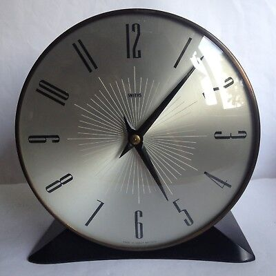 Smiths 8 Day Striking Mantle Clock Working 50s/60s Vintage Retro