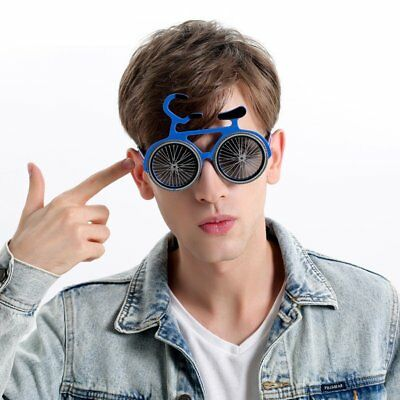 Novelty Colorful Party Prop Funny Bicycle Shaped Sunglass Kids Glasses Hallowen