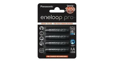 4 x Panasonic Eneloop PRO AA 2500 mAh Rechargeable Batteries Ready To Use HR06