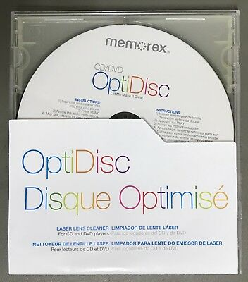 CD/DVD Disc Player Lens Cleaning Disc New No Retail Box