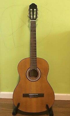 Slim Narrow Neck Classical Guitar 4 People With Small Hands With Built-In Tuner.
