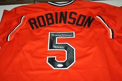 811c7d90c ORIOLES BROOKS ROBINSON  5 autographed signed orange jersey HOF 83 JSA  Witness