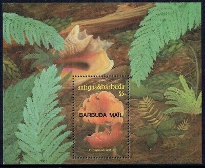 Barbuda 1986 Mushrooms mini-sheet, fine unmounted **