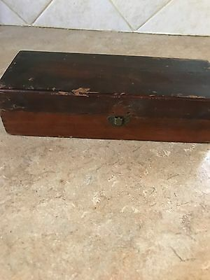 Antique HYGIENE CROWN SYRINGE Medical Advertising Wooden Box India Rubber Co NY