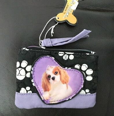 Cavalier King Charles Zippered Cotton Coin Purse