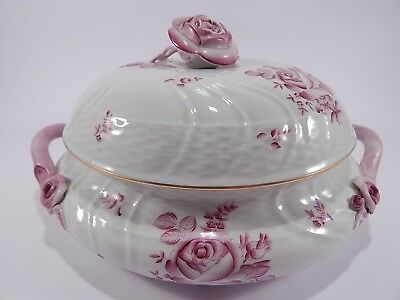 Zuppiera Porcellana Herend Hungary Rose Porcelain Hand-Made Tureen