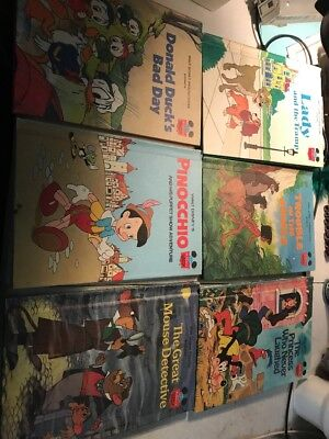 Lot of 6 Vintage And More Recent Disney Books