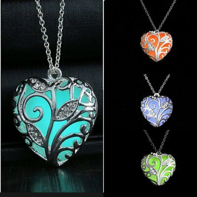 Magic luminous Steampunk Fairy Locket Glow In The Dark Pretty Pendant Necklace