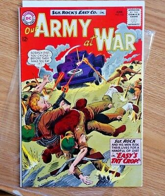 """#143 OUR ARMY AT WAR 1964 Sgt Rock """"Easy's TNT Crop"""""""