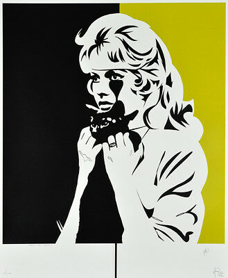 PURE EVIL Brigitte Bardot Crazy Cat Lady print Urban, Street, pop art, graffiti