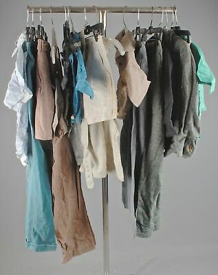 Vtg Boys 1930s Shirts Shorts Sets Overalls Pants Jackets Lot 16pcs 30s #4960