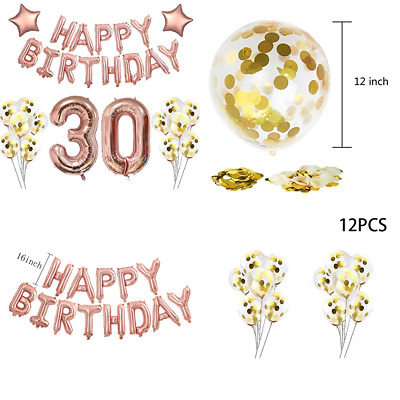 40 30 Rose Gold Foil Balloons For 30Th Birthday Party Decorations Supplies