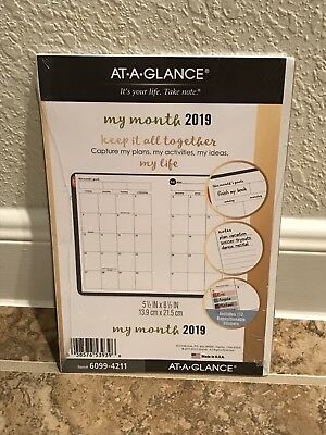 At-A-Glance Planner Refill 2019 Size 4 Jan Dec Monthly Colorful Tabbed