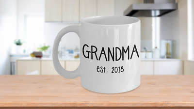 New Grandma Mug 2018 Gift for First Time Grandparent of Baby Born In 2018