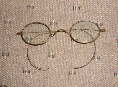 Nice Pair of Antique SPA Gold Wire Spectacles - Eyeglasses