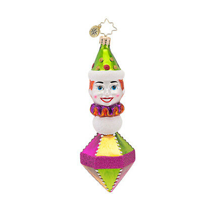 CHRISTOPHER RADKO - CLOWNING AROUND Circus 2013 Glass Christmas Ornament 1016922