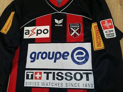 Neuchatel Xamax 2007-2008 #19 Garcia match worn or issued home shirt size L