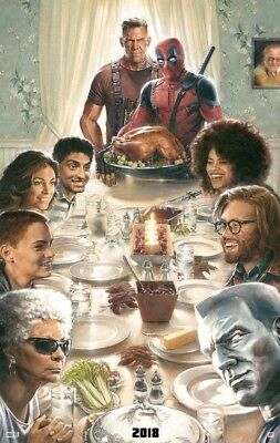 Deadpool 2 Thanksgiving  A  Double Sided Original Movie Poster 27x40 inches