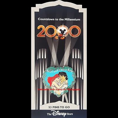 Disney Store Countdown To Millennium Pin #54 Ariel & Prince Eric Little Mermaid