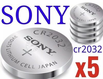 5 x Sony CR2032 CR 2032 DL2032 Lithium 3v Batteries Coin Cell ROCK BOTTOM PRICE