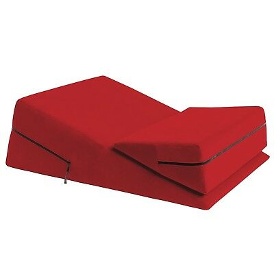 Red Mattress Wedge Ramp Positional Pillow Combo for Intimacy or Medical Aid