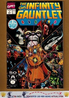 Infinity Gauntlet #1 (9.4) NM Thanos Avengers By Jim Starlin & George Perez
