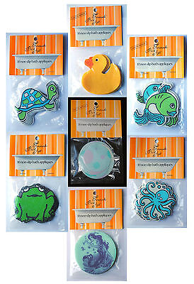 10 Non Slip Bath Tub Appliques by FUNMADE for Babies & Children's Safety.
