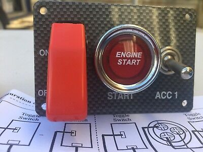 Start Button Switch Panel Race Car, Classic, Hot Rod, JDM Holden, Ford, Japanese