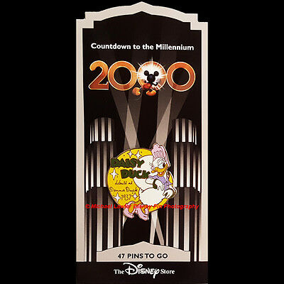 Disney Store Countdown To The Millennium #48 Daisy Duck 1937 Pin Donna Duck