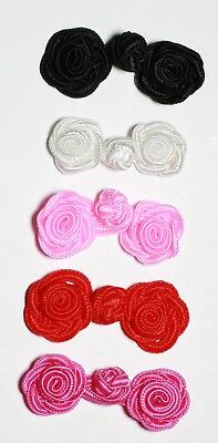 Rose Frog Fastener Closure Button Knots Available 7 Different Colours: