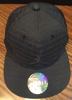Air Jordan Youth fitted hat ball cap black 23 print with original sticker