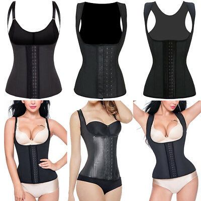 Latex Vest Top Waist Trainer Shaper Corset Cincher Fajas Reductoras Colombianas