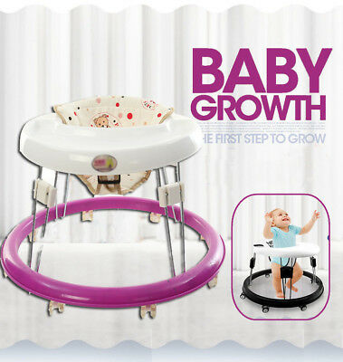 Portable Baby Walker Foldable Infant Comfy Seat First Step Activity Walking Tool