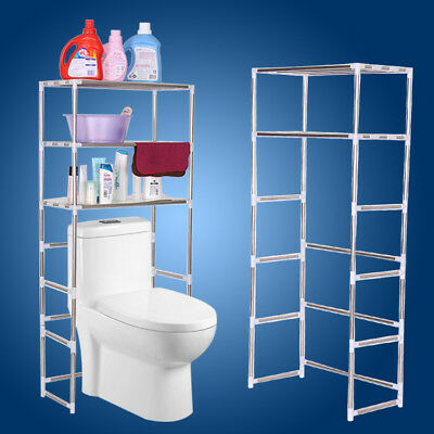 3 Tier Storage Rack Over Toilet/Bathroom/Laundry/Washing Machine Shelf Organizer