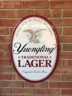 """Yuengling Traditional Lager """"America's Oldest Brewery"""" Embossed Oval Metal Sign"""