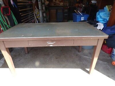 STEEL Machine AGE Tanker VTG Industrial TABLE Art METAL Desk ESTATE FIND!!!