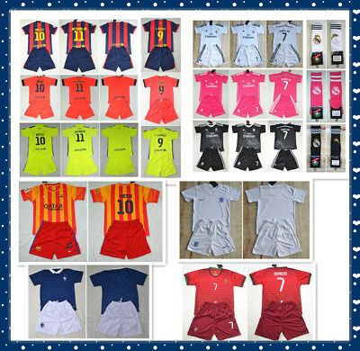 NEW  sportwear football kit  Soccer shirt and short 3-14 years