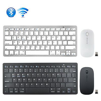 US 3.0 Bluetooth Keyboard + Wireless 2.4G Mouse Mice Combo for PC Laptop MAC Pad