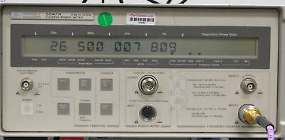 Agilent 5347A Microwave Frequency Counter / Pwr Meter, 10Hz-26.5GHz - W/Cal Cert