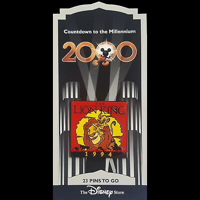 Disney Store Countdown To The Millennium Pin #24 The Lion King Mufasa & Simba