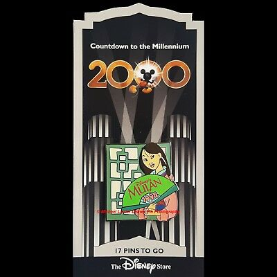Disney Store Countdown To The Millennium Pin #18 Mulan